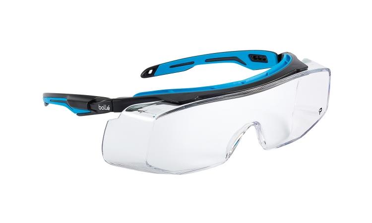 Bollé Überbrille TRYON OTG mit Längenverstellbaren Bügeln und Platinum Beschichtung, EN 166, EN 170, CE