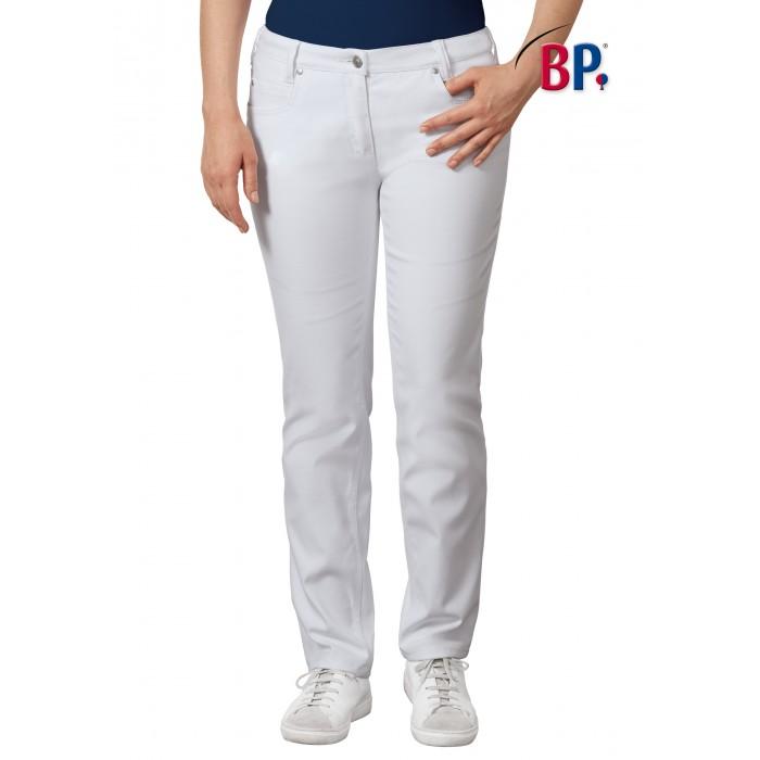 BP Damenjeans mit Taschen, weiß, elastisches Gewebe