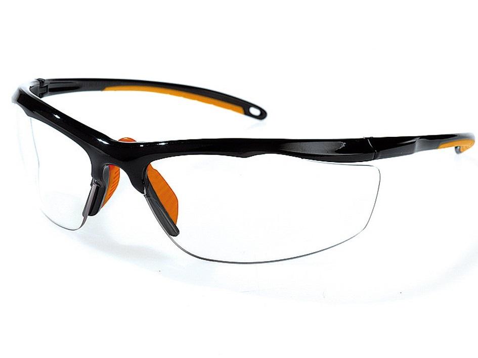 Singer Schutzbrille Evalor, ultra leicht (ca. 22 Gramm), klar / transparent, EN166 F1 EN170 (2C-1.2), feiner Bügel