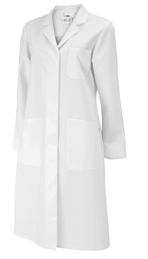 BP Damen Kittel mit Rückenschlitz & Rückengurt, Reverskragen, 100% Baumwolle