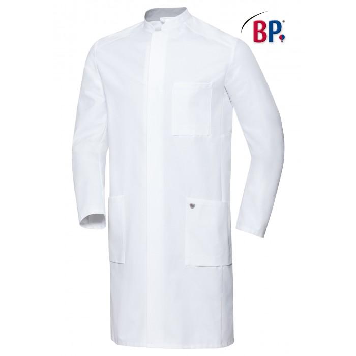 BP Herren Arztkittel mit Stehkragen, weiß, 100%Baumwolle, 205g/m²