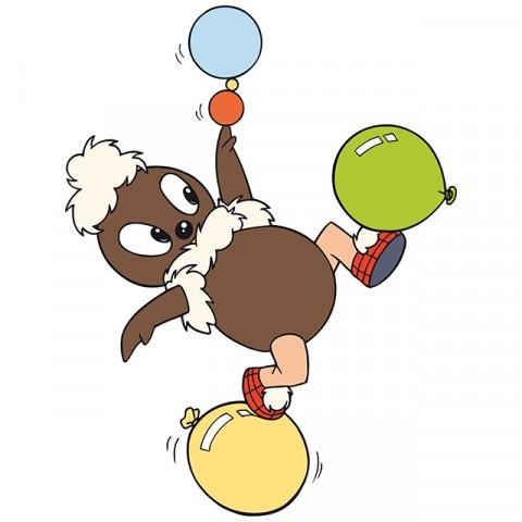 Pitti mit Ballons Trans-Digi-Sieb GH