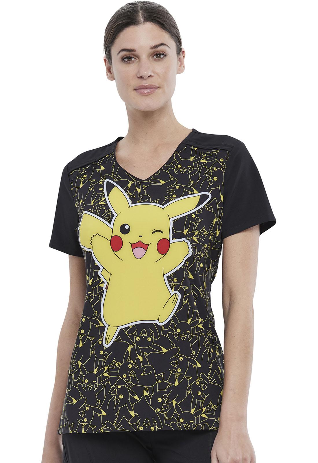 Cherokee Damen Schlupfkasack Pikachu, Pokemon, V-Neck
