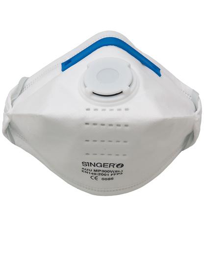 Singer 20 FFP3 NR D Faltmasken mit Ventil, EN149:2001+A1:2009, CE zertifiziert