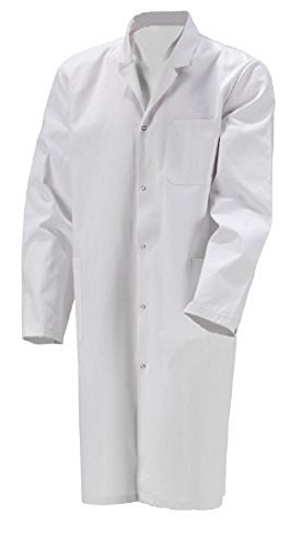 KOKOTT B-Ware Herren Laborkittel, 100% Baumwolle, Weiß