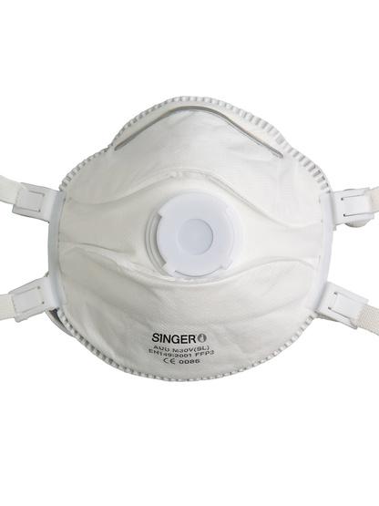 Singer 5 FFP3 NR D Atemschutzmasken mit Ventil, PSA, zertifiziert nach EN149:2001+A1:2009, CE zertifiziert