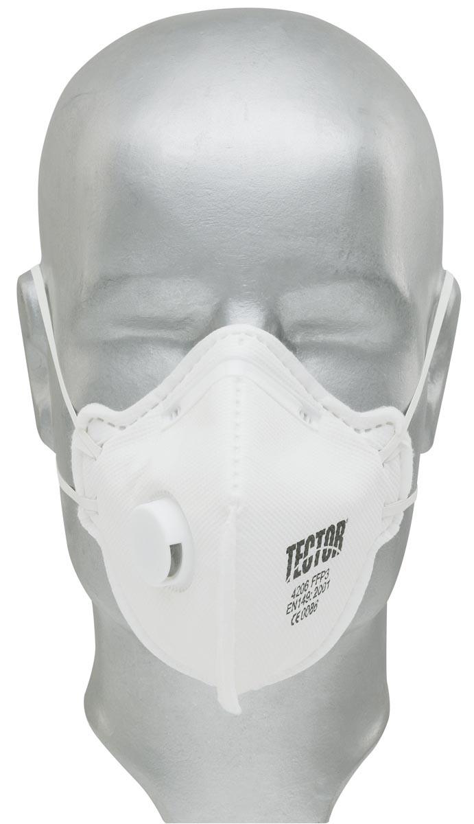 Tector FFP3 Faltmaske mit Ventil, einzeln verpackt, EN149:2001 + A1:2009