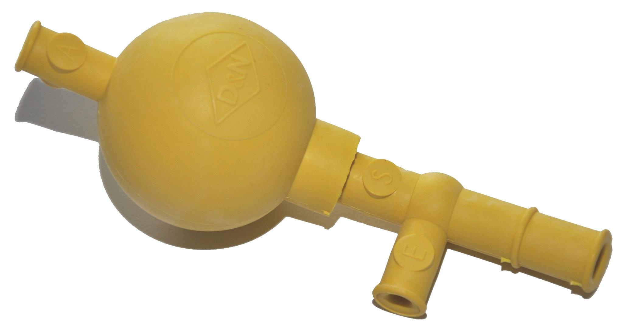 Peleusball Pipettierball Gelb, Standard, für 100ml Pipetten, Naturkautschuk